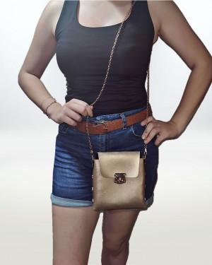 Çapraz Zincir Askılı Kadın Çantası